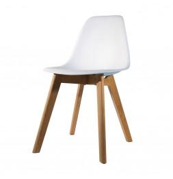 Chaise scandinave pour enfant - 30.50 cm x 36.50 cm x 56.50 cm - Blanc