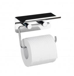 Dérouleur papier WC avec support pour smartphone - Chrome - Wenko