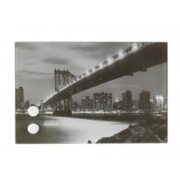 Bac magnétique pour clés - 30 x 20 cm - Manhattan bridge