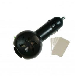 Diffuseur pour voiture - 4,5 x 10 cm - PVC - Noir