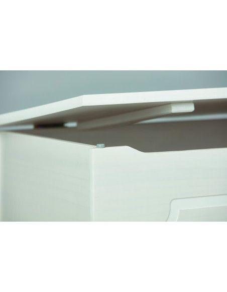 Coffre à jouet Emel - 89 x 47 x 53 cm - Blanc