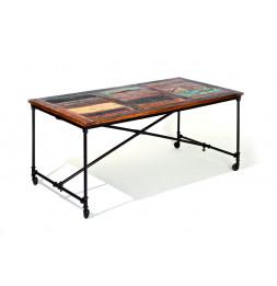 Table Coffee - 90 x 180 x 76 cm - Bois et métal