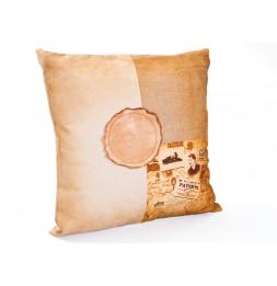 Coussin Katla - 45 x 12 cm - Coton jute et cuir