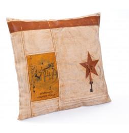 Coussin Lukka - 50 x 12 cm - Coton et cuir