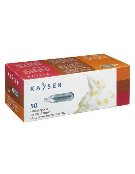 Cartouches de gaz N2O pour siphon - Pack de 50 - Kayser