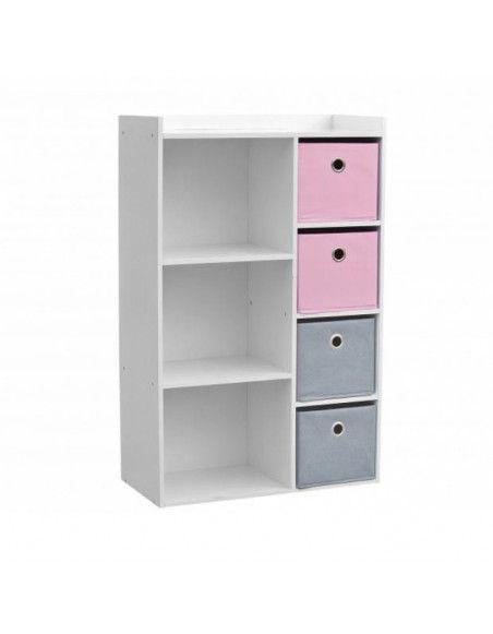 Armoire - 3 niches - 4 tiroirs - 62 x 29,5 x 96 cm
