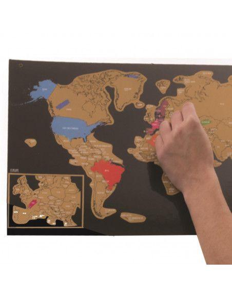 Carte du monde à gratter - 60 x 40 cm