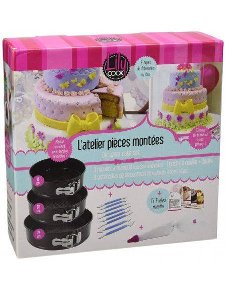 Coffret de cake design - 3 moules