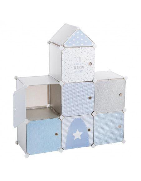 Château bleu - Rangement - Décoration pour enfant