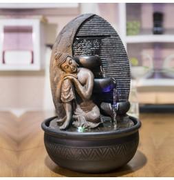 Fontaine Bouddha Grace - H 40 cm - Décoration intérieur