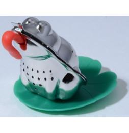 Infuseur à thé grenouille en inox - Avec mini plateau nénuphar