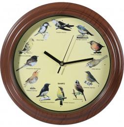 Horloge aux voix d'oiseaux - 33 cm - Plastique