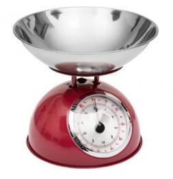 Balance mécanique - 21 x 24,5 cm - Métal - Rouge