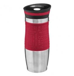 Mug isotherme - 8,2 x 19,7 cm - Inox - Rouge