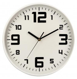 Pendule silencieuse - D 30 cm - Blanc