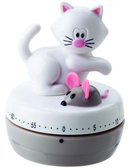 """Minuteur """"Meow"""" - 6,5 x 8,5 cm"""