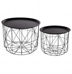 Duo tables à café - Métal - Noir
