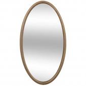 """Miroir """"Mood"""" ovale - 25 x 2 x 45 cm - Bois - Or"""