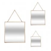 Miroir carré - Lot de 3 - Jaune