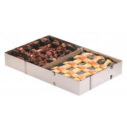 Cadre à pâtisserie rectangle réglable - Inox