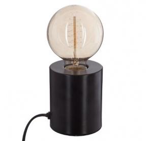 Lampe tube - 9 x 10,5 cm - Métal - Noir