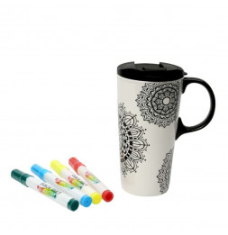 "Mug en céramique ""Just add colour"" - 475 ml - 18 x 9 cm - Céramique"