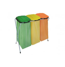 Eco-fix 3 supports sac poubelle - 95 x 37 x 86 cm - Métal