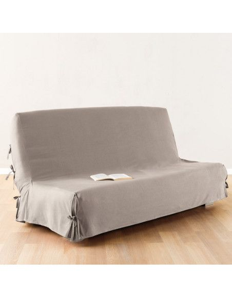 Housse de clic-clac - 140 x 200 cm - 100% coton - Beige