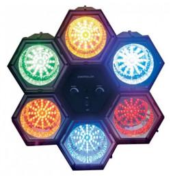 Lampe disco 6 spots à LED - Luminaire d'ambiance pour soirées
