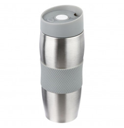 Mug double parroi isolant - D 7 x H 20 cm - Inox