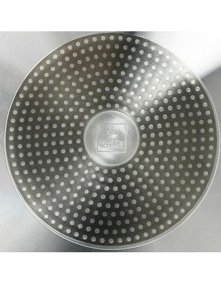 Poêle grill - 28 cm - Aluminium - Noir