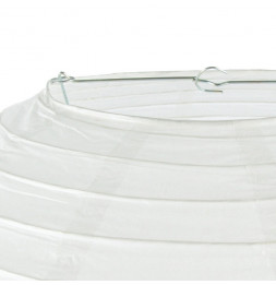 Lanterne boule - 60 cm - Blanc