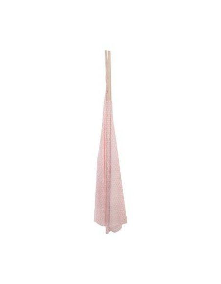 Tipi déco - 120 x 120 x 160 cm - Polyester - Rose