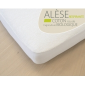 Alèse junior - 90 x 200 cm - Coton bio - Blanc