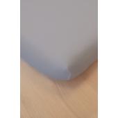 Drap housse - 90 x 140 cm - Coton bio - Gris clair