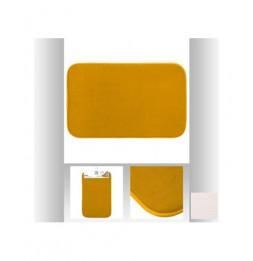 Tapis à mémoire de forme rectangulaire - 50 x 80 cm - Jaune