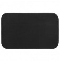 Tapis à mémoire de forme rectangulaire - 50 x 80 cm - Noir