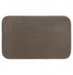 Tapis à mémoire de forme rectangulaire - 50 x 80 cm - Taupe
