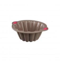 Moule charlotte - 26,5 x 9,65 x 23 cm - Silicone - Marron