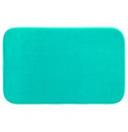 Tapis à mémoire de forme rectangulaire - 50 x 80 cm - Turquoise