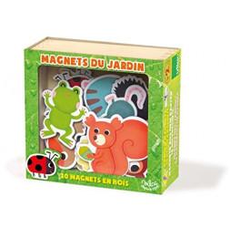 Magnets du jardin - 15 x 14 x 6 cm - Bois
