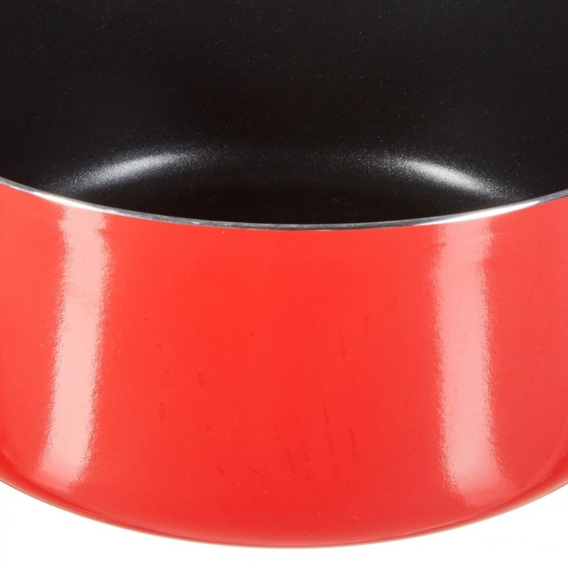 Faitout induction - 28 cm - Aluminium - Rouge