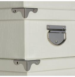 Set de 6 boîtes de rangement - Métal et carton - Beige