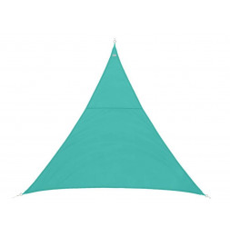 Voile d'ombrage triangulaire - 400 x 400 x 400 cm - Polyester - Emeraude