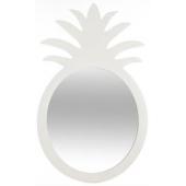 "Miroir ananas ""Atomic"" - 24,5 x 1,5 x 40 cm - Bois - Blanc"