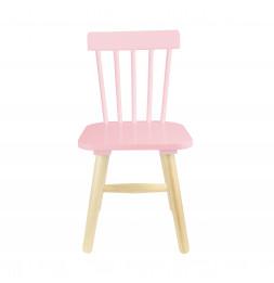 Chaise enfant - 29 x 33 x 58 cm - Bois - Rose
