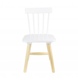 Chaise enfant - 29 x 33 x 58 cm - Bois - Blanc
