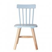 Chaise enfant - 29 x 33 x 58 cm - Bois - Bleu