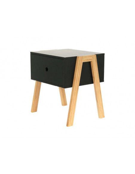 Chevet empilable - 44 x 35 x 45,3 cm - Bois - Noir