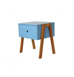 Chevet empilable - 44 x 35 x 45,3 cm - Bois - Bleu